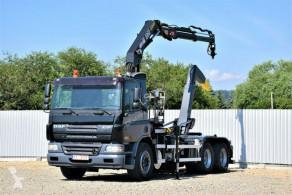 Ciężarówka bramowiec DAF CF 75.310 Abrollkipper 5,00m + HMF 106 K2