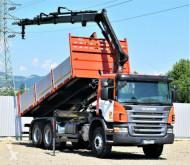 Ciężarówka platforma Scania P380 Kipper 5,00m + HIAB 144B-3 DUO / 6x4