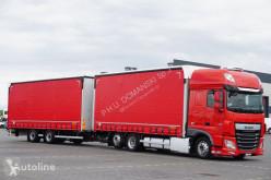 达夫卡车 106 / 460 / SSC / ACC / EURO 6 / ZESTAW PRZEJAZDOWY 120 M3 + remorque rideaux coulissants 侧边滑动门(厢式货车) 二手