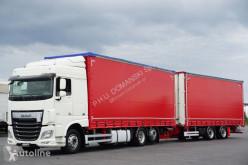 Ciężarówka firanka DAF 106 / 460 / EURO 6 / ZESTAW PRZEJAZDOWY 120 M3 / WINDA + remorque rideaux coulissants