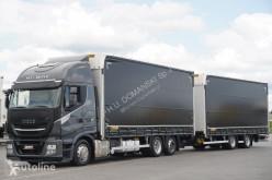 Camión Iveco Stralis / 460 XP / HI-WAY / ACC / EURO 6 / ZESTAW PRZESTRZENNY12 + remorque rideaux coulissants lonas deslizantes (PLFD) usado