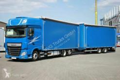 Lastbil palletransport DAF XF 460 Pritschen-Jumbozug Durchlade Lenkachse