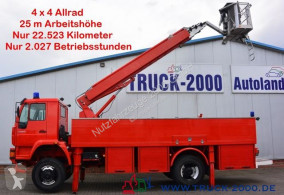 Camion nacelle MAN 18.280 4x4 25m Höhe Montage-Dach-Solar Reinigung