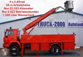 Camião MAN 18.280 4x4 Feuerwehr 25m Bühne 1500l Tank CRohr bombeiros usado
