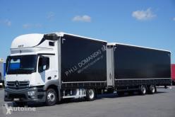 MERCEDES-BENZ ANTOS / 1840 / E 6 / ZESTAW 120 M3 / 39 PALET / ŁAD. 21 460 KG + remorque rideaux coulissants truck used tautliner