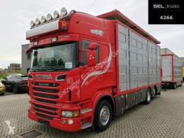Camión remolque ganadero Scania R R 620LB6X2*4HNB /4 Stock /Hubdach /Full extras