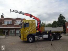 Camión volquete DAF 95.430 Kipper SZM mit PK 23002 Kran 6x4