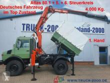 Unimog U1450 4x4 Atlas 80.1 Kran 5.&6. Steuerkreis 1.Hd truck used flatbed