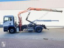 Camión Gancho portacontenedor MAN TGA 18.413 FLS 4x2 BL 18.413 FLS 4x2 BL mit Kran Fassi F95