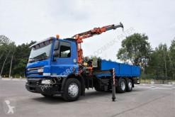 DAF CF 75.310 6x2 ATLAS 120 EURO 5 KRAN CRAN truck used flatbed