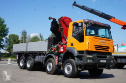 Camión caja abierta Iveco TRAKKER AD 410 8x8 HMF 4220 Crane Kran OFF ROAD