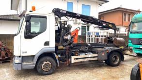 Camión Gancho portacontenedor DAF CF45 SCARRABILE CON GRU DA EDILIZIA SUL RETRO