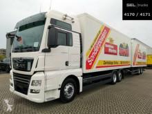 Camión remolque MAN TGX TGX 26.500 / Intarder / Durchlade / with trailer furgón usado