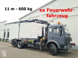 Camión Mercedes SK 2531/6x2/4 2531/6x2/4, Meiller Kran MK 76RS 2 und Abroller 19.60 Gancho portacontenedor usado