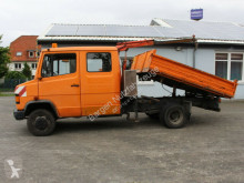 Camión volquete volquete trilateral Mercedes DB 709 Kipper Kran Doka AHK