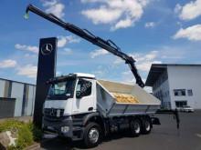 Kamión korba trojstranne sklápateľná korba Mercedes Arocs 3342 K 6x4 Heckkran Hiab X-Hiduo 138 DS-3