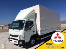 Mitsubishi ponyvával felszerelt plató teherautó Canter