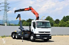Camion Renault Kerax 370 Abrollkipper 5,90 m+FASSI F130.A/6x4 plateau occasion