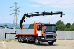 Камион платформа Scania P340 Pritsche 7,20m +HIAB 200 C-4 + FUNK/6x4