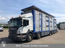 Camion bétaillère Scania P P 380 Menke Doppelstock 8,10m Hubdach
