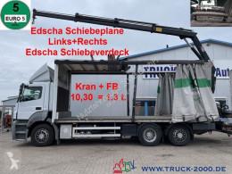 Mercedes LKW Schiebeplanen 2636 2636 Kran Hiab XS 144 Schiebeplane L+R + Dach BC