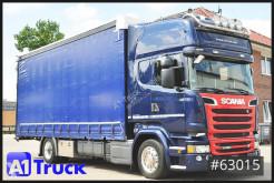 Камион Scania R R520 Highline, Alu, Standklima, Lampenbügel, шпригли и брезент втора употреба