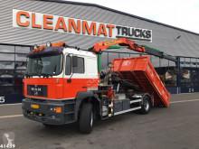 Camión portacontenedores MAN 21.343 Palfinger 11 ton/meter laadkraan