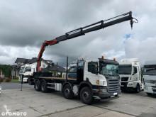 Ciężarówka Scania P380 8X4 SKRZYNIA 750M + HDS PALFINGER PK 23002 + PILOT DO HDS używana