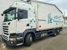 Camión Scania R450 LB 6x2-4 R450 LB 6x2-4 Getränkekoffer, Retarder, Lift-/Lenkachse, Stapleraufnahme, 4 x Vorhanden! furgón usado