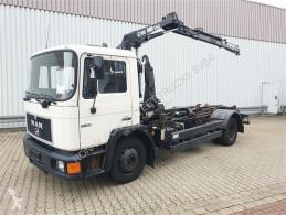 Camião MAN F 14.152 4x2 BB 14.152 4x2 BB mit Kran Hiab 060-2 poli-basculante usado
