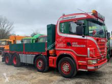 شاحنة Scania R R144 460 V8 8x4 Full spring (Blatt Blatt) منصة حواجز الحاوية مستعمل