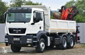 Ciężarówka platforma MAN TGS 26.400 Kipper 4,80m+ EPSILON PK E110Z / 6x4