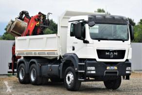 Camion benne MAN TGS 26.400 Kipper 4,80m+ EPSILON PK E110Z / 6x4