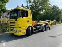 Camion Scania R420 R420 LB6X2 Absetzkipper Meiller AK 16. NT/Lift+L multibenna usato