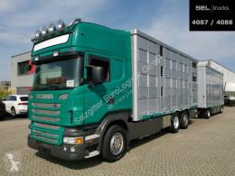 Camión remolque remolque ganadero Scania R R 440 / 3 Stock / Lenkachse / KOMPLETT