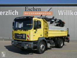 Camión volquete volquete trilateral MAN 19.314 3-Seiten-Kipper*MKG Kran aus 2010*3 Sitze