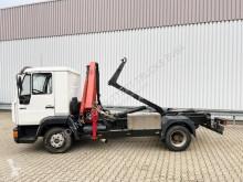Caminhões MAN 8.163 LLC 4x2 mit Kran Palfinger PK3700A4 LLC 4x2 mit Kran Palfinger PK3700A4 estrado / caixa aberta usado