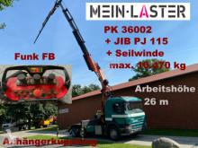 Camião Scania G 124G-420 6x4 PK 36002 + JIB 27m Seilwinde FB chassis usado