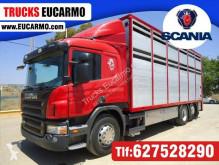 Lastbil Scania P 380 boskapstransportvagn begagnad