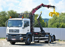 Ciężarówka MAN TG 310 A Abrollkipper 5,20m +DIEBOLT D 15 - 78 Z platforma używana