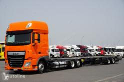 DAF chassis truck / 106 / 460 / SSC / ACC / EURO 6 / ZESTAW BDF / 2 X 7,8 M + remorque châssis
