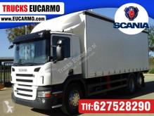 Lastbil Scania skjutbara ridåer (flexibla skjutbara sidoväggar) begagnad