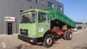 Camion MAN 19.291 (BIG AXLE / STEEL SUSPENSION / 6 CYLINDER ENGINE WITH MANUAL PUMP) benne occasion