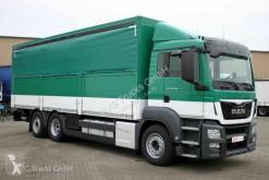 MAN ponyvával felszerelt plató teherautó 26.400 TGS Koffer/Schiebeplane LBW Lenkachse