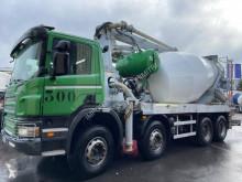 Camion Scania P 380 calcestruzzo betoniera mescolatore + pompa usato