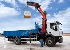 Camión Hiab Renault 270.19D dump truck XS122 crane volquete usado