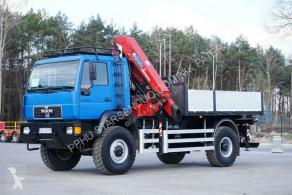 Camión caja abierta MAN L2000 4x4 HMF 2120 Kran Cran Winch Off Road ...