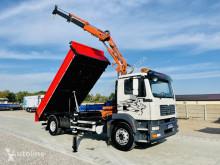 Ciężarówka MAN TGM 18.240 wywrotka + dzwig HDS wywrotka używana