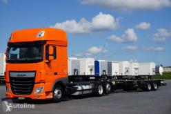Camión chasis DAF / 106 / 460 / SSC / ACC / EURO 6 / ZESTAW BDF / 2 X 7,8 M + remorque châssis