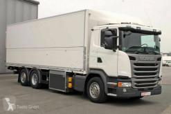 Camión Scania G G 450 6X2*4 Schwenkwand LBW Lenkachse Retarder furgón transporte de bebidas usado